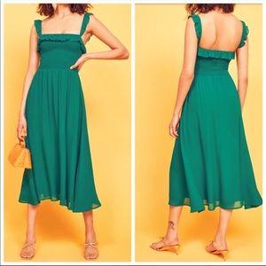 REFORMATION Siesta Serpentine Smocked Dress